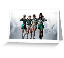 Miss A Cheerleader Uniform Greeting Card