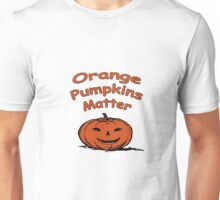 Orange Pumpkins Matter Parody Design Unisex T-Shirt