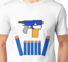 NERF TOY DESIGN- CROWN OF DARTS Unisex T-Shirt