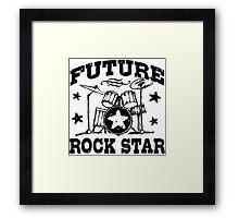Future Rock Star Framed Print