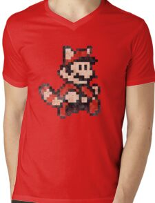 Super Mario Bros 3 Vintage Pixels V02 Mens V-Neck T-Shirt