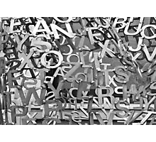 Alphabet Jumble  Photographic Print