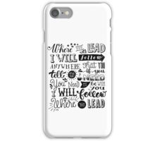 where you lead {gilmore girls} iPhone Case/Skin