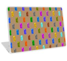 Phone booth on iced coffee background Laptop Skin