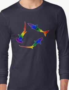 Rainbow Sharks  Long Sleeve T-Shirt