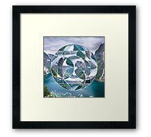 Geometric landscape Framed Print