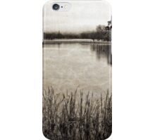 Lake Burley Griffin on a foggy morning (3) iPhone Case/Skin