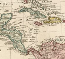 Map of the West Indies Caribbean by Isaak Tirion (1765) Sticker