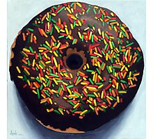 """""""Circle of Love"""" - Realistic Donut food painting Photographic Print"""