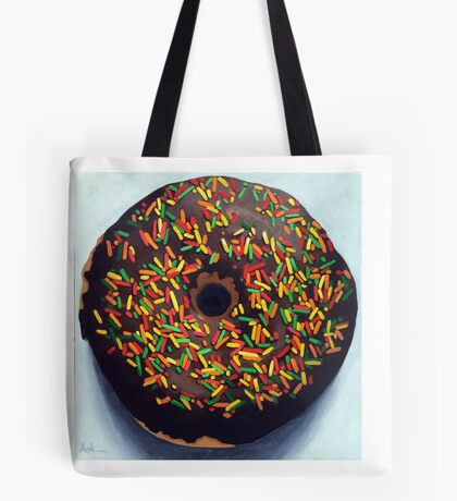 """""""Circle of Love"""" - Realistic Donut food painting Tote Bag"""
