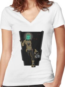 THE SPACE BETWEEN THE LIVING AND DEAD Women's Fitted V-Neck T-Shirt
