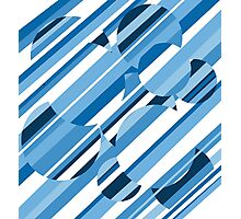 Blue pattern Photographic Print
