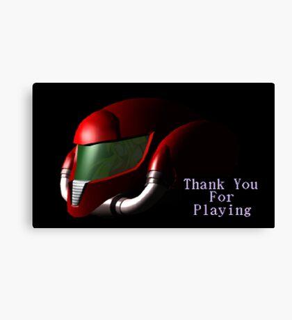 Smash 64 Samus Aran Congratulations Screen Canvas Print