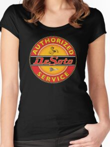 Desoto vintage Cars USA Women's Fitted Scoop T-Shirt
