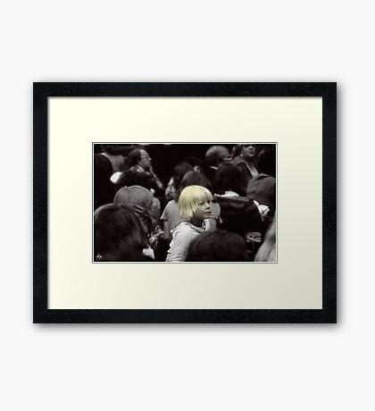 Fashionably Blond Framed Print