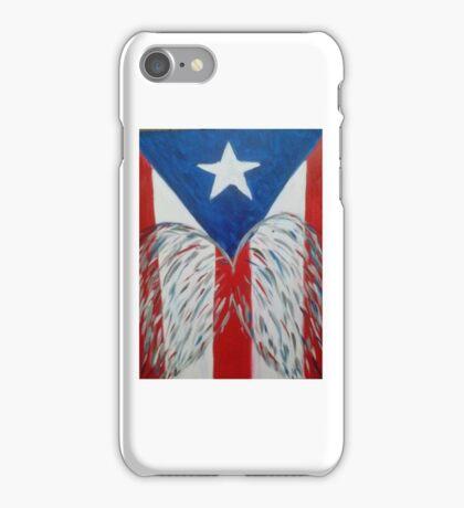 Puerto Rican Heart Wings iPhone Case/Skin