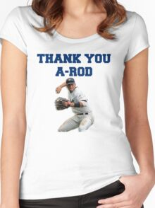 Thank You Alex Rodriguez #Yankees #NY #NewYork #Arod #13 #13Yankees Women's Fitted Scoop T-Shirt