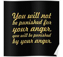 "You will not be... ""Buddha"" Inspirational Quote Poster"