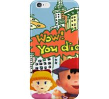 Smash 64 Ness Congratulations Screen iPhone Case/Skin