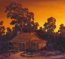 The Australian Pioneers Log Cabin by John Cocoris