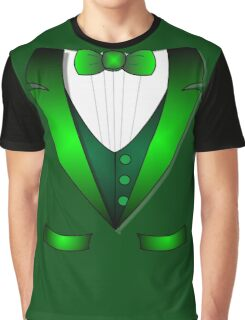 leprechaun suit st patricks day green Irish tuxedo Graphic T-Shirt