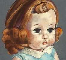 I'm Fine #6 (Red Headed 60's doll) by Blue Reid