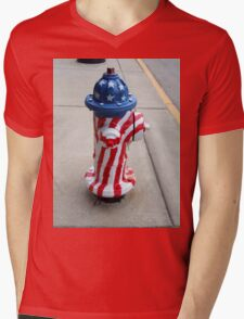 Patriotic Firehydrant II Mens V-Neck T-Shirt