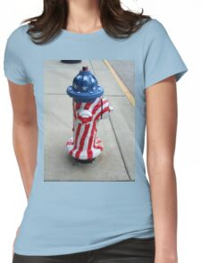Patriotic Firehydrant II Womens Fitted T-Shirt