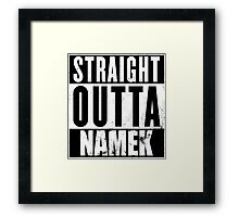 Straight Outta Namek Framed Print