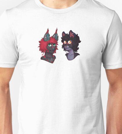 Koja and Cody Pixel Busts Unisex T-Shirt