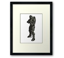 Minimalist Masterchief from Halo Framed Print