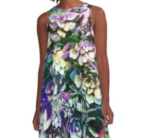 Colorful Abstract Plants A-Line Dress