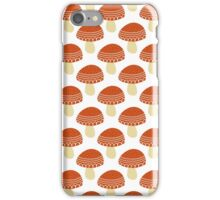 Simple doodle cute amanita pattern. Fly agaric hand drawn seamless background. iPhone Case/Skin