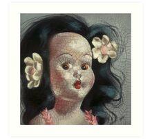 I'm Fine #9, (Hawaiian Doll) Art Print