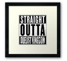 Straight Outta Duelist Kingdom Framed Print