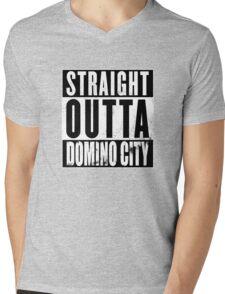 Straight Outta Domino City Mens V-Neck T-Shirt