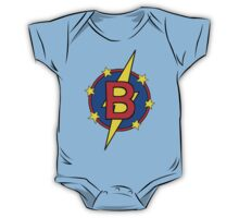 My Cute Little Super Hero - Letter B One Piece - Short Sleeve