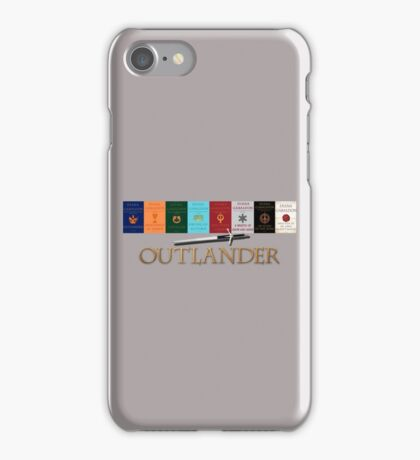 Outlander books with sword iPhone Case/Skin