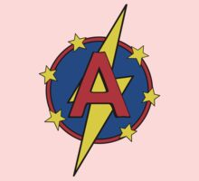 My Cute Little Super Hero - Letter A Kids Tee