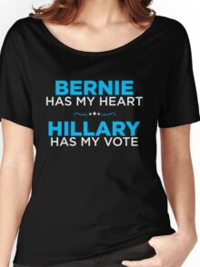 Bernie Has My Heart, Hillary Has My Vote Women's Relaxed Fit T-Shirt