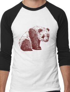 Triangulated Panda Men's Baseball ¾ T-Shirt