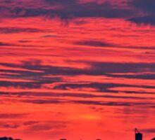 Red Farm Sunrise Sticker