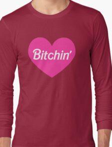 Bitchin' Barbie Pink Heart Design Long Sleeve T-Shirt