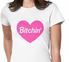 Bitchin' Barbie Pink Heart Design Womens Fitted T-Shirt