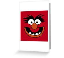 Animal Muppet (Orange Lips&Nose) Greeting Card