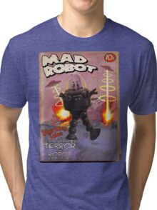 Mad Robot Fake Pulp Cover Tri-blend T-Shirt