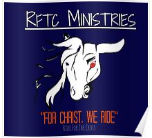RFTC Ministries: NAVY BLUE w/RED Poster