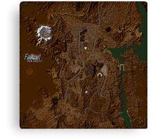 Fallout New Vegas Map Canvas Print