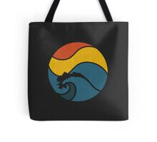 Sun shining above the ocean Tote Bag