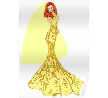 Fashion -yellow lace gown (7779 Views) Poster